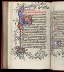 Historiated Initial With The Madonna And Child, In The Prayerbook Of Duke Humfrey Of Gloucester